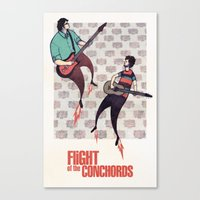 flight of the conchords Canvas Prints featuring We Are Robots - Flight of the Conchords by iherring