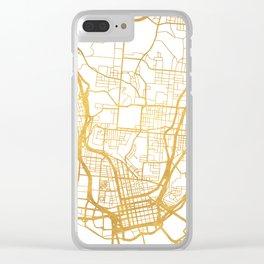 CINCINNATI OHIO CITY STREET MAP ART Clear iPhone Case