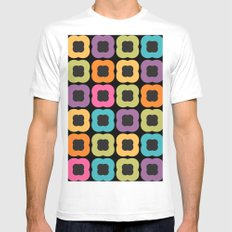 Seamless Floral Pattern XIII White Mens Fitted Tee MEDIUM