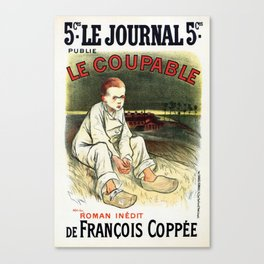 Le Coupable, The Guilty One Canvas Print