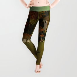 Birthplace of Herbert Hoover, West Branch, Iowa by Grant Wood Leggings