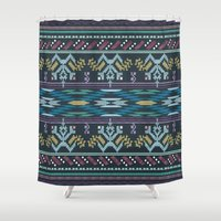 peru Shower Curtains featuring From Peru to You-color by Katie Boland