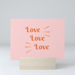 Love Retro Print Mini Art Print