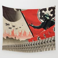 darth vader Wall Tapestries featuring Darth Vader by Meche A