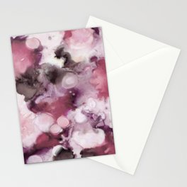 Organic Abstract in shades of plum Stationery Cards