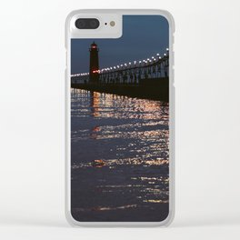 Pier Nights Clear iPhone Case