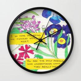 Journal Wall Clock