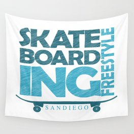 Skateboarding Freestyle San Diego Wall Tapestry