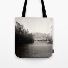 Black & White Lake Tote Bag