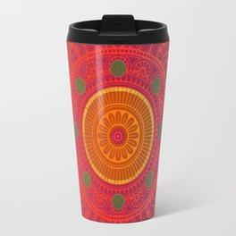 """Fuchsia and Gold Mandala"" Travel Mug"
