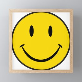 Smiley Happy Face Framed Mini Art Print