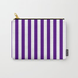 Vertical Stripes (Indigo/White) Carry-All Pouch
