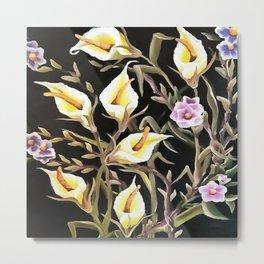 Arum Lily Artistic Floral Design Metal Print