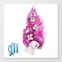 virgo Canvas Prints featuring Virgo by Aloke Design