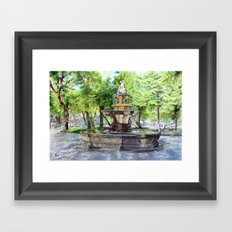 Old Fountain at Split, Croatia Framed Art Print