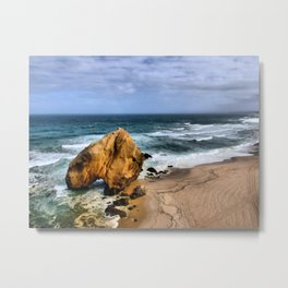 Santa Cruz Beach in Portugal Metal Print