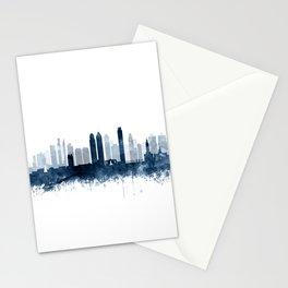 Philadelphia City Skyline Blue Watercolor by zouzounioart Stationery Cards