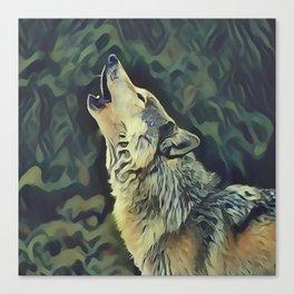 A Wolf Call Canvas Print