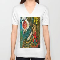 jazz V-neck T-shirts featuring Jazz by HollyBroderick