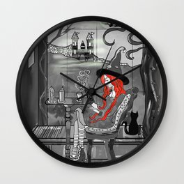 RedhairWitch Wall Clock