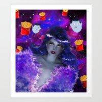 marceline Art Prints featuring Marceline by Sara Eshak