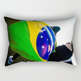 Brazilian Flag Rectangular Pillow