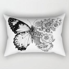 Butterfly in Bloom Rectangular Pillow