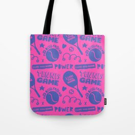 Tennis love. Pattern. Tote Bag