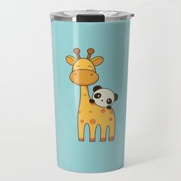 Cute and Kawaii Giraffe and Panda Travel Mug
