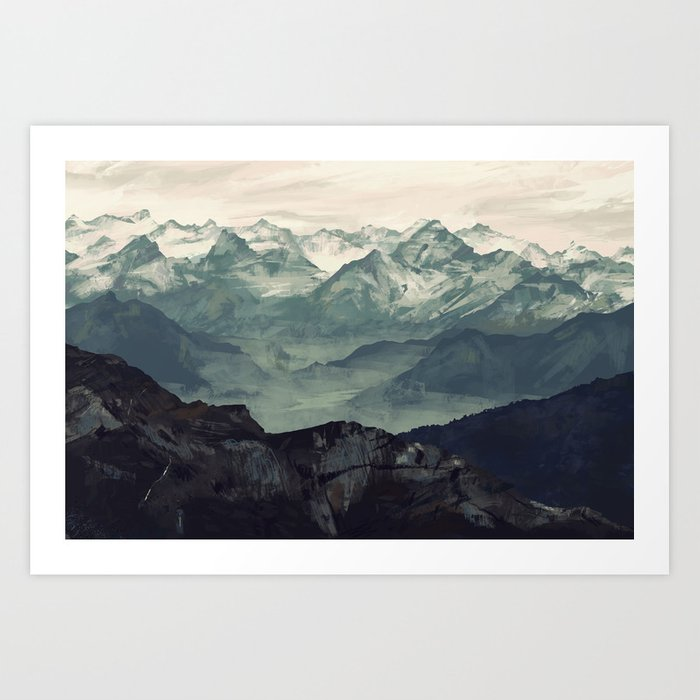 Mountain Fog Kunstdrucke