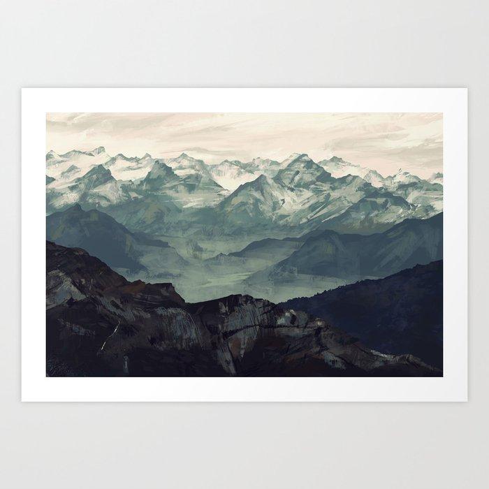 Mountain Fog Art Print By Micaeladawn Society6