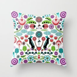 Scandinavian Inspiration (White) Throw Pillow