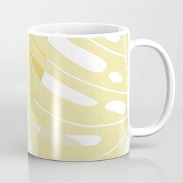 Pastel yellow monstera deliciosa Coffee Mug