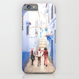 Sunny days Ahead - Chefchaouen, Morocco - The Blue City iPhone Case