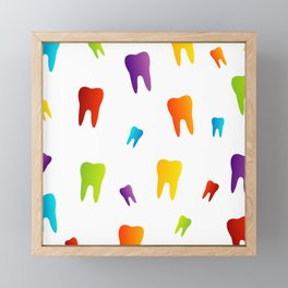 Colorful Sweet tooth Framed Mini Art Print
