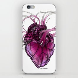 Buttefly Heart Pink iPhone Skin
