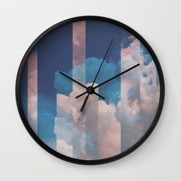 Abstract Sky Wall Clock