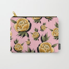 Peony Paradise Pink Carry-All Pouch