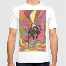 Brushmask White MEDIUM Mens Fitted Tee