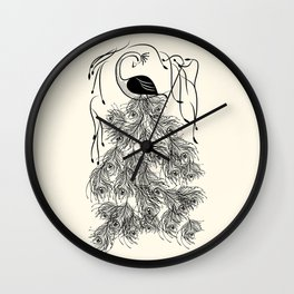Jungle Peacock Wall Clock