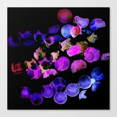 waterdots - bold colours Canvas Print