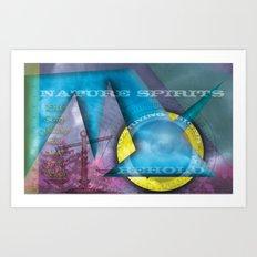 Nature Spirits Warning Signs Art Print