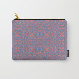 Living Coral And Pacific Blue Shapes Pattern Carry-All Pouch