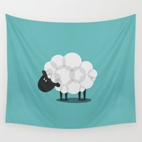 sheep Wall Tapestries featuring SHEEP by Seokhyun Shim