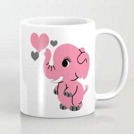 Pink Baby Elephant Coffee Mug