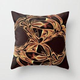 Golden Signet Throw Pillow