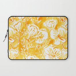 CALI POP Yellow California Poppies Laptop Sleeve
