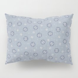 Seamless french farm house linen printed winter holiday background.  Pillow Sham