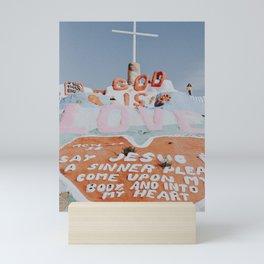salvation mountain ix / slab city, california Mini Art Print