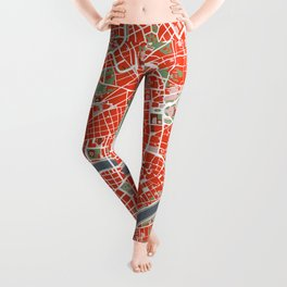 Rome city map classic Leggings